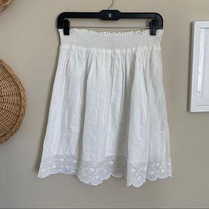 Old Navy Eyelet Lace Hem High Waisted Cotton Skirt